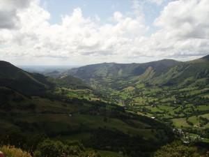 vue sur la vallee de mandaille